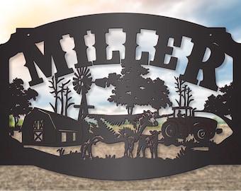 Modern Farming Barn and Cattle Scene LMW-16-69