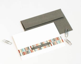 Personalized Stationery, Personalized Note Card Set, For Him // ALIGNED