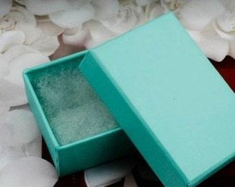 DESTASH 5 x 7 jewelry boxes, LOT of 15 boxes, glossy teal boxes, destash boxes