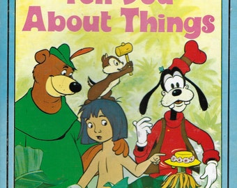 Vintage 1970's Children's Book - Walt Disney - Words That Tell You About Things