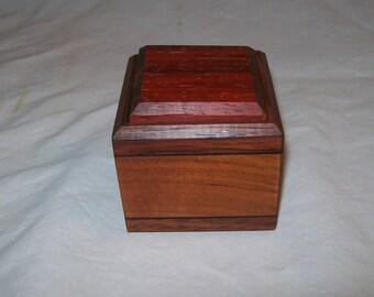 Ring Box,  Small wooden box, Trinket box