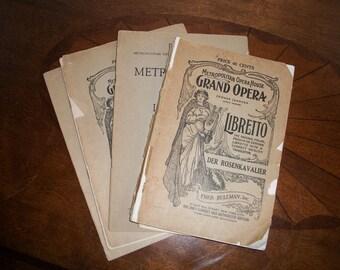 Der Rosenkavalier Program Libretto Metropolitan Opera House Grand Opera Circa 1912