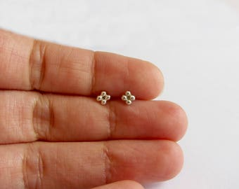 Stud earrings. Gold filled or sterling silver posts, minimal earrings. 4 mm studs. Ball studs.