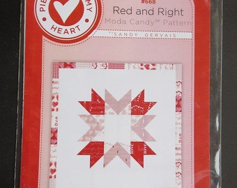 Pieces From My Heart - Sandy Gervais - Red And Right Moda Candy Pattern - 668