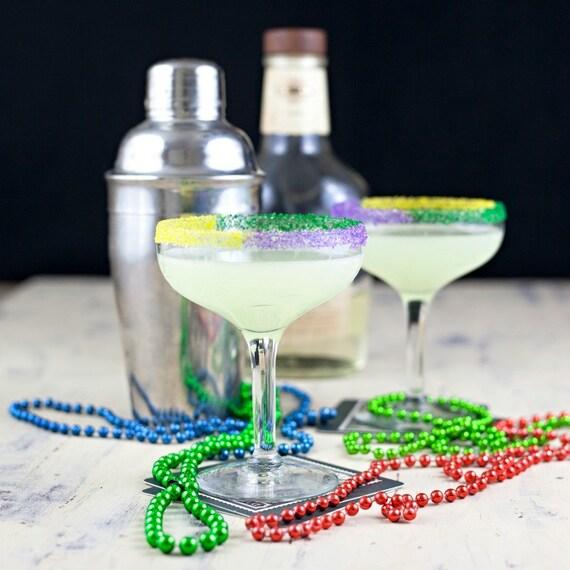 Mardi Gras colored cocktail rimming sugar - purple green ...