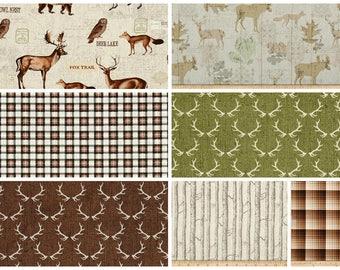Baby Bedding, Crib Bedding, Toddler Bedding, Nursery Set, Crib Skirt, Crib Sheet, Changing Pad Cover, Bumper Pads, Deer. Antlers, Woods