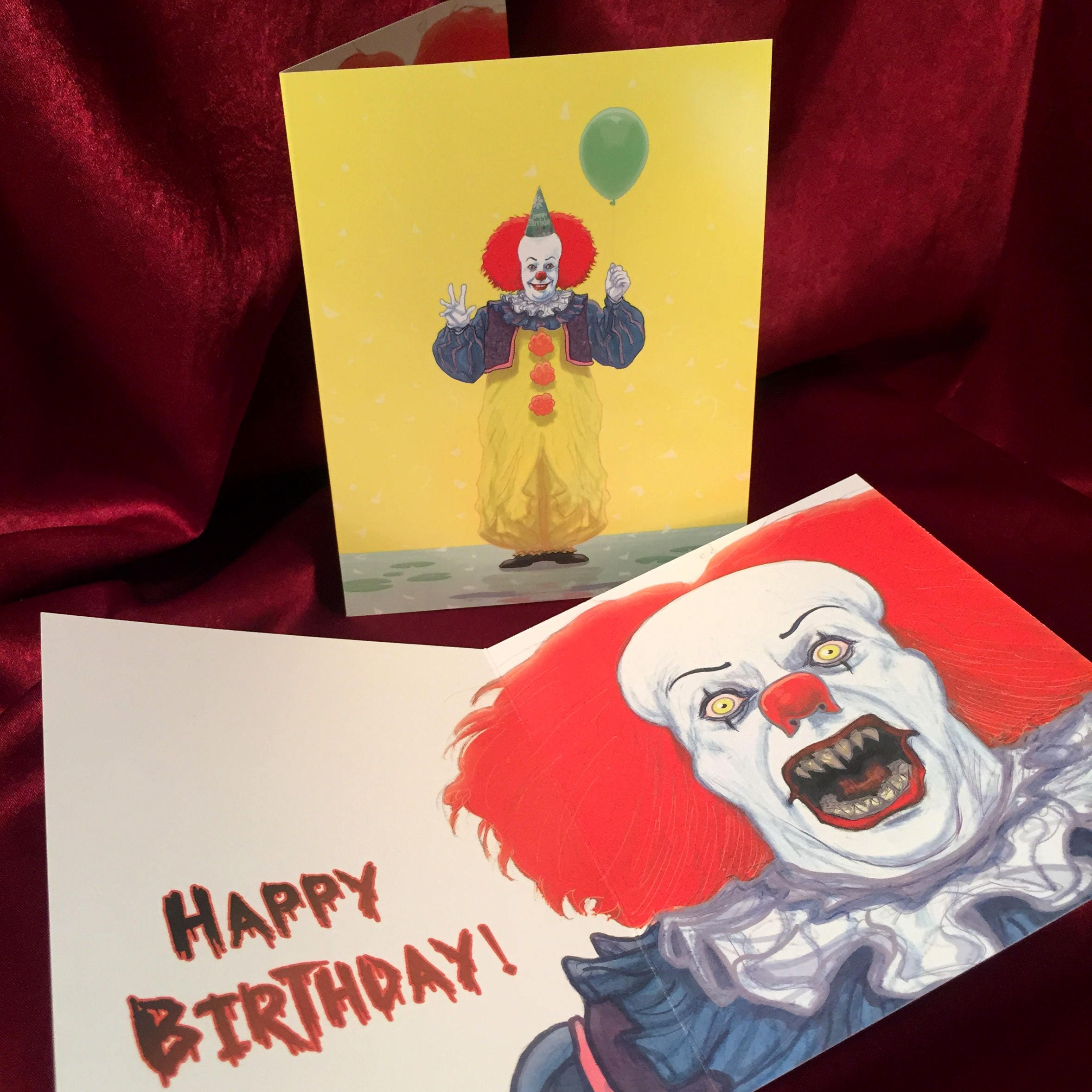 IT Pennywise BIRTHDAY CARD