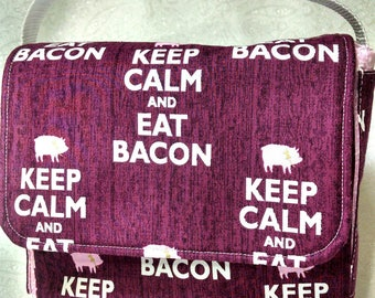 Keep Calm and Eat Bacon Lunch Bag