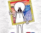Giclee Art Print, Cartoon Art Print, Home Decor, Wall Art, Comic Art Print, Funny Wall Art, Ivan Art Print, Painting Home Decor Print