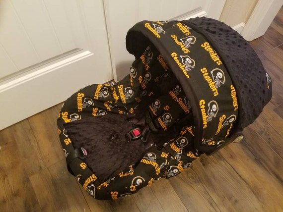 choose your favorite nfl team fabric infant car seat cover. Black Bedroom Furniture Sets. Home Design Ideas