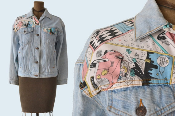 Pop Art 1980s Levis Jacket size L