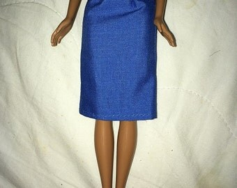 Fashion Doll Coordinates -Solid royal blue skirt - es423