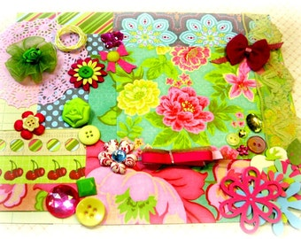 K & Co. Sweet Nectar Inspiration Kit Embellishment Kit Life Project Kit for Scrapbooking Cards Mini Albums and Paper crafts 2
