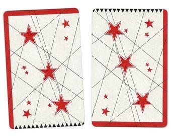 SEEING STARS (2) Vintage Single Swap Playing Cards Paper Ephemera Scrapbook