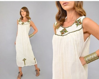 SPRING SALE 70's Moroccan GAUZE Dress