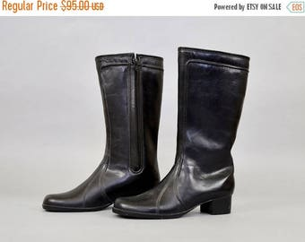 MAY SALE Black Faux Sheepskin Lined Winter Boots (US 10)