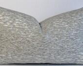 Kravet animal print grey decorative pillow cover - Lumbar designer Jeffery Alan Marks throw pillow