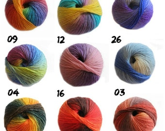 NEW - Bonita Yarns - Kaleidoscopic Collection - Self-striping - Crocodile Stitch Baby Booties Yarn
