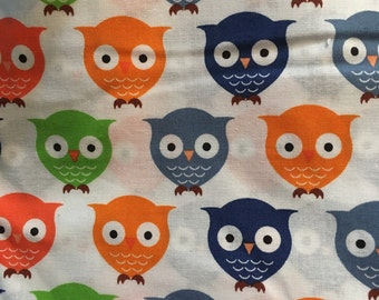 Owls - Cotton Fabric BTY