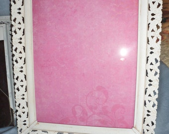 "Vintage Metal 1950's 8""by10"" Picture photo Frame Shabby Chic'd finish"