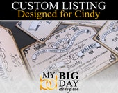 Cindy's Wedding Invitation sets: 50, with, extra insert card, white envelopes and 2 Day FedEx rush shipping