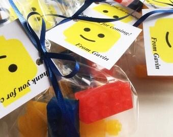 Lego Man Minature Lego Soap Party Favors! Lego Movie Lego People Party Idea - Lego Men Soap - Lush Little Gift Idea - Customize Personalize