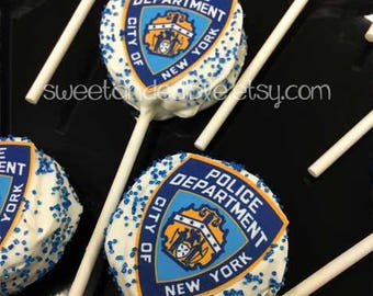 POLICE NYPD Custom Edible Prints for Cupcakes, cakes, etc