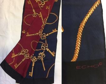 Vintage Echo Long Silk Baroque Scarf