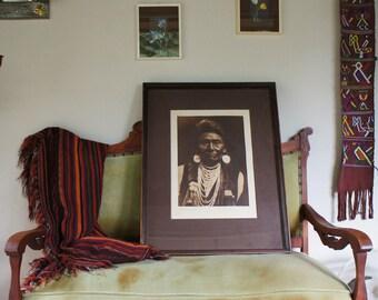 Photgravure Edward Curtis Chief Joseph Native American