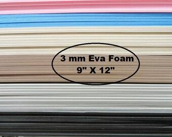 Eva Foam, 3mm Foam Insole Shoe Padding, Shoe Cushion, One Sheet 9 X 12, Shoe Making Supplies