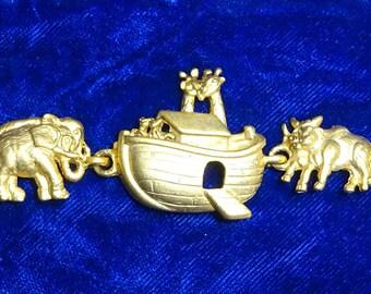 Noah's Ark Bracelet , Noah's ark charms, charm link bracelet