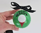 Best Grandpa golf ornament, grandparent gift, grandpa gift, grandparent ornament, golf gifts, golf decor, golf ornament, stocking stuffer