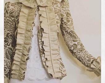 spring button down linen blazer