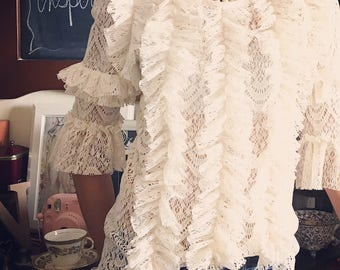 ruffle lace top