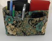 Purse Insert, Bag Organizer Insert, 14 Pockets, Bucket Style, Handbag, Purse, Diaper Bag, Weekender Bag, Tote or Travel Bag, Ready to Ship