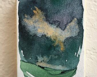 Mini Painting, Watercolor Landscape, Landscape Painting, Original Artwork, Abstract Painting, Art Under 30, Art Collection, Original Art