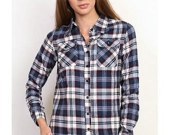 Monogram Plaid Button Down Shirt