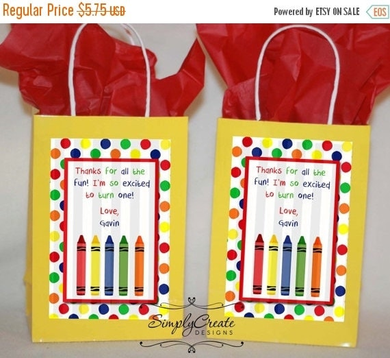 SALE 1st Birthday Favor Tag DIGITAL File 4x6 Jpeg Digital File Personalized
