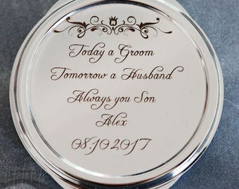 Personalized Compact Mirror, Bridesmaids' gifts, Personalized Bridesmaids Gifts, mother of the bride gift ,Personalized Purse Mirror