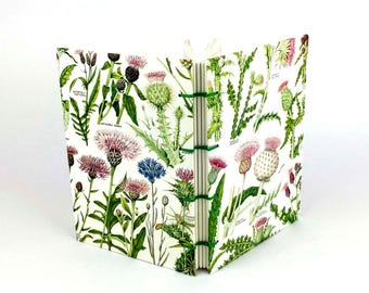 Botanical Journal, Thistle Notebook, Garden Notebook, Flower Journal, Spring notebook, Scottish Sketchbook
