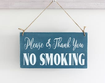 No Smoking Sign, Smoking Sign, Business Sign, Office Decor, Wall Art, Wood Sign