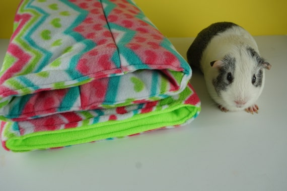 Chevron Fleece Collection Guinea Pig Tunnel Guinea Pig Bed
