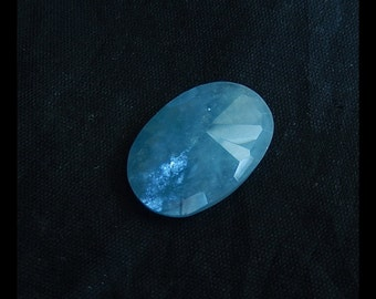 Blue Aquamarine Gemstone  Faceted Cabochon For Pendant(No Drilling),24x16x7mm,3.9g(a0405)