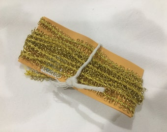Gold Metallic Wired Sewing Trim