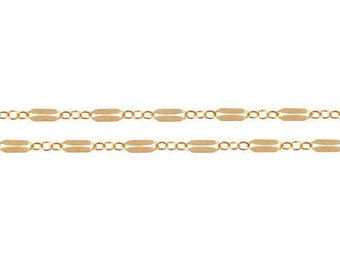 Dapped Long And Short Chain 14Kt Gold Filled 6x2.5mm - 20ft  LOWEST PRICE wholesale quantity (10638-20)/1