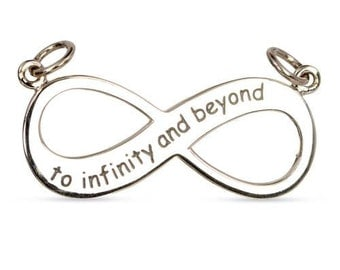 To Infinity And Beyond Link Sterling Silver 30x17mm - 1pc High Quality Shiny (10860)/1
