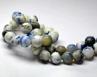 Full Strand 10mm Sodalite Gemstone Round Smooth Beads - 44 beads