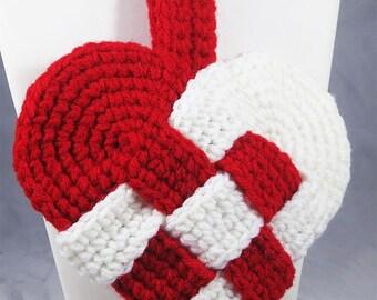 Valentine Danish Heart Crochet Two Colors