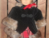 Kirsten's warm winter coat and bonnet, for 18in American girl dolls