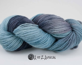 Bulky Weight - Alpaca Yarn - Hand Dyed OOAK - Made in Canada Into the Night